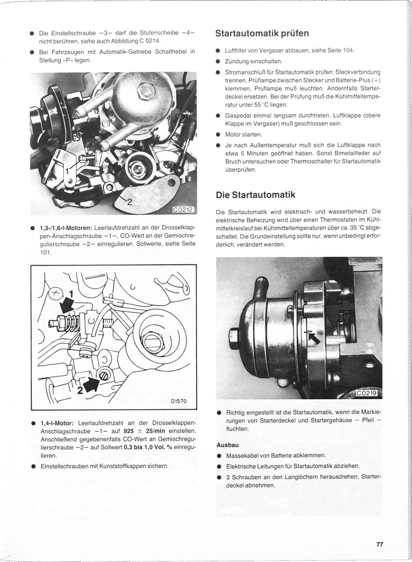 OPEL KADETT E 1984-1991 1,3l 1,4 1,6 1,8 2,0l Reparaturanleitung SWG 51