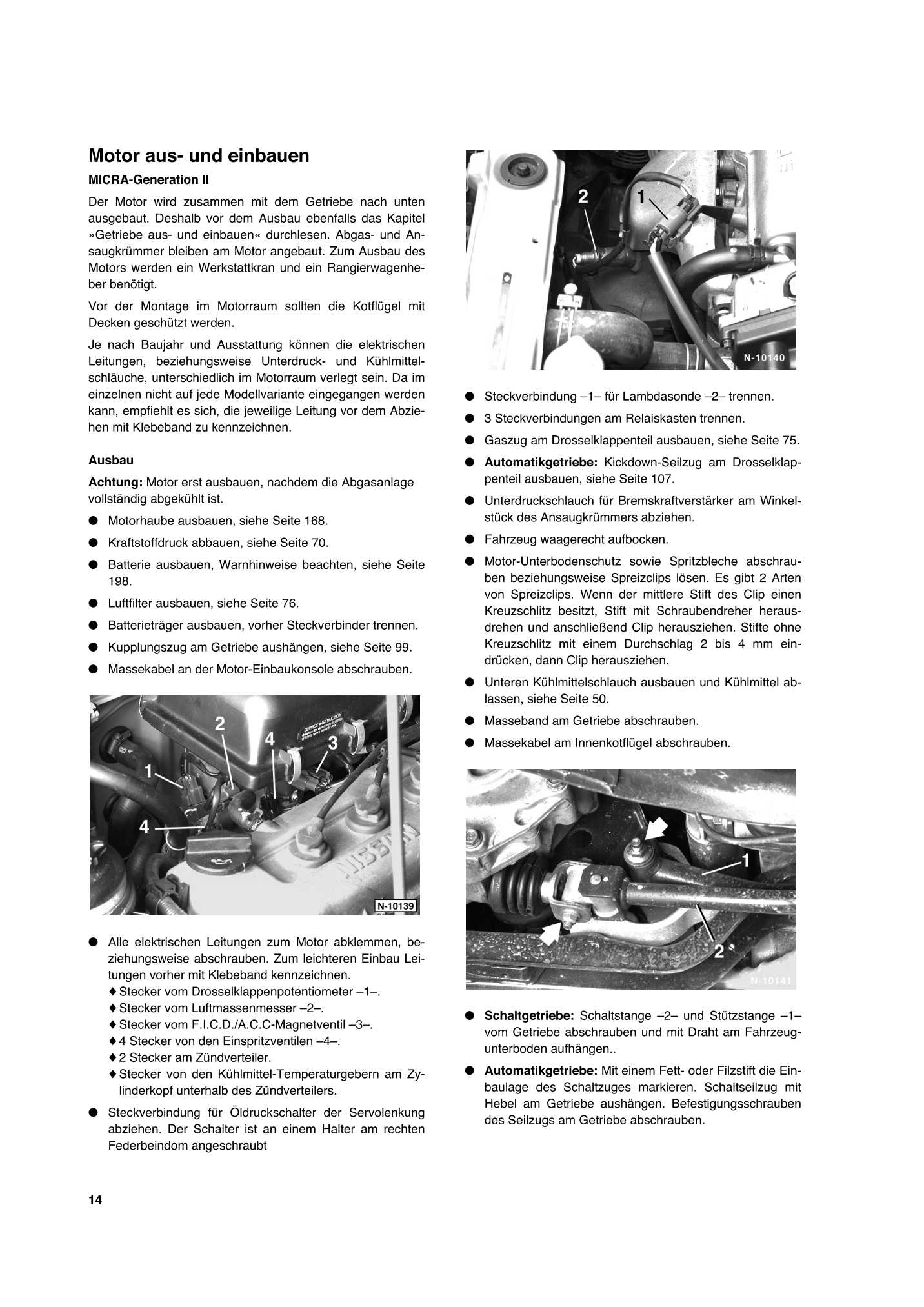 Reparaturanleitung Nissan Micra So Wird S Gemacht